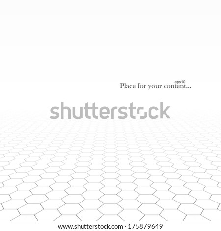 Concept business background. White design of vision perspective. Vector illustration. - stock vector
