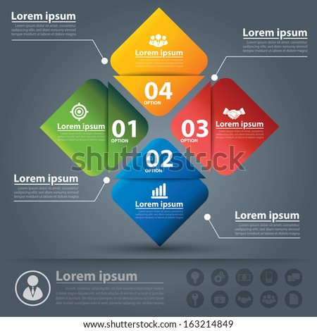 Concept business options banner. Vector illustration. can be used for layout, diagram, number options, web design, infographics. flat design