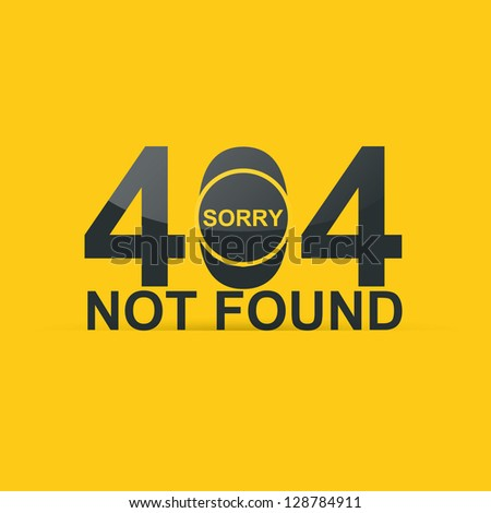 Concept 404 error. Page not found. Illustration design - stock vector