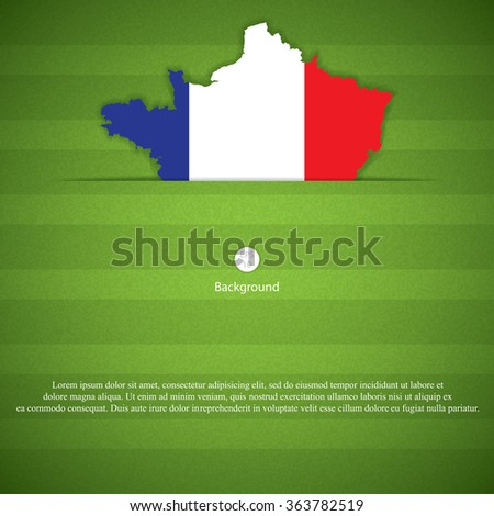 Concept for Euro 2016 France football championship.Vector - stock vector