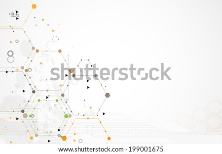 Concept for New Technology Corporate Business & development background - stock vector