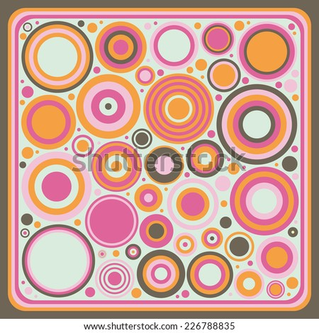 Concept geometry frame with circles - stock vector