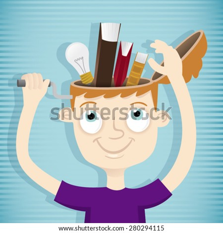 Concept illustration of knowledge - stock vector