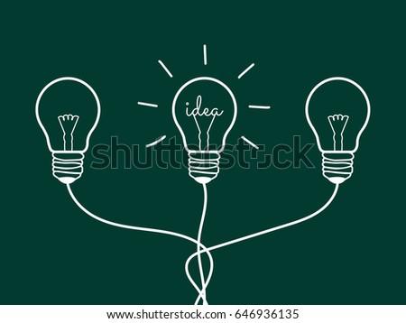 Concept Light Bulb design white line icon vectorIdea sign solution thinking concept & Concept Light Bulb Design Black Line Stock Vector 646455877 ... azcodes.com