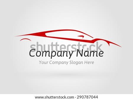 Concept Logo Auto Company Supercar Silhouette Stock Vector