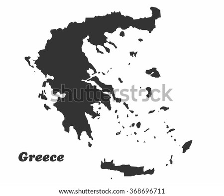 Concept map of Greece , vector design Illustration. - stock vector