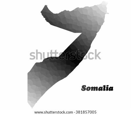 Concept map of Somalia, vector design Illustration. - stock vector