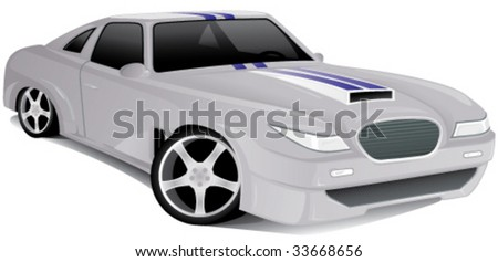 Concept muscle car - vector illustration - stock vector