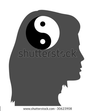 concept of a zen idea, equanimity mind - stock vector