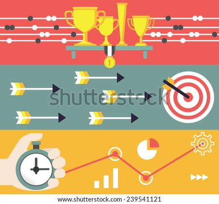 Concept of business and marketing. Startup and results - vector illustration - stock vector