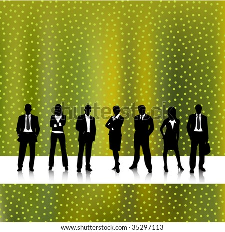 Concept of business people with abstract background
