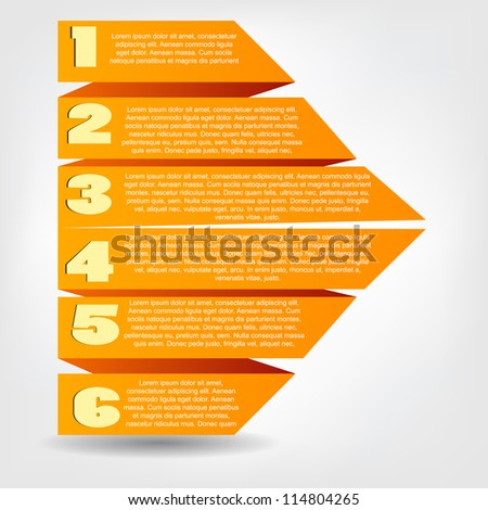 Concept of colorful origami  for different business design. Vector illustration - stock vector