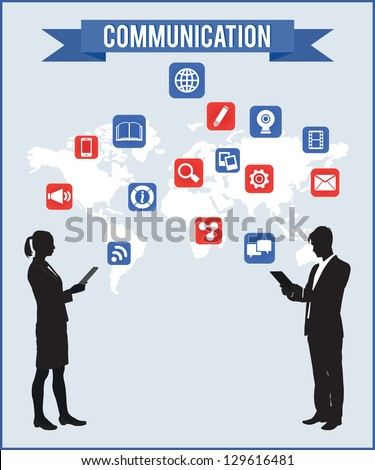 Concept of communication - vector illustration - stock vector