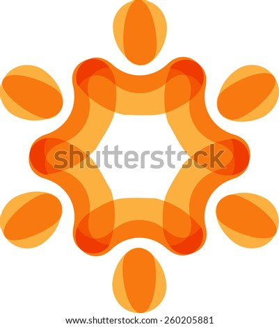 Concept of community unity,solidarity & friendship- vector graphic. Vector represent colorful kids playing together holding hands together in circles or union of workers - stock vector