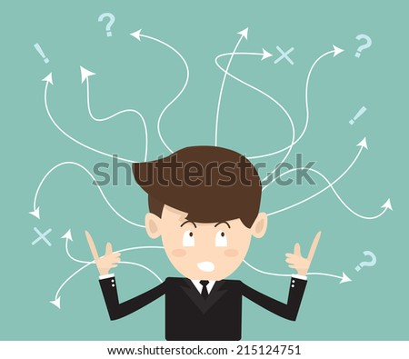 Concept of difficult choices in business - stock vector