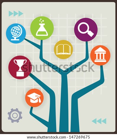 Concept of education - vector illustration - stock vector
