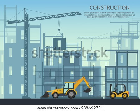 Building crane stock images royalty free images vectors for Process of building a house