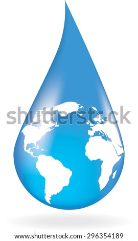 Concept of save of water. Vector illustration
