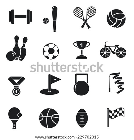 Concept of set lifestyle sports equipment flat icons backgrounds. vector illustration design  for web and mobile template  - stock vector
