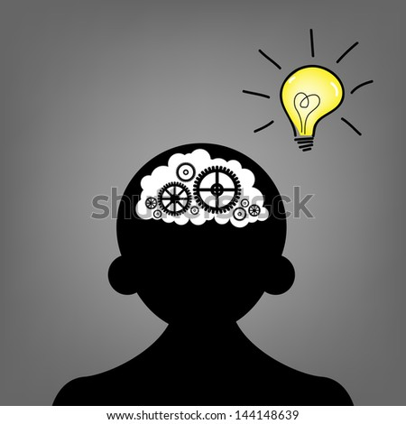 concept of the functioning of the human body and the brain - stock vector