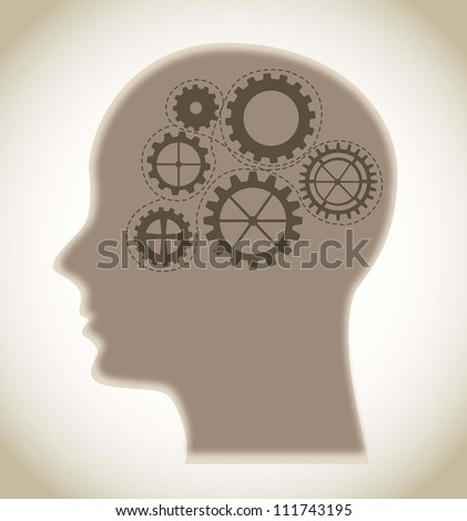 concept of the functioning with gears. vector illustration - stock vector