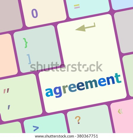 concept of to agreement something, with message on enter key of keyboard vector illustration - stock vector