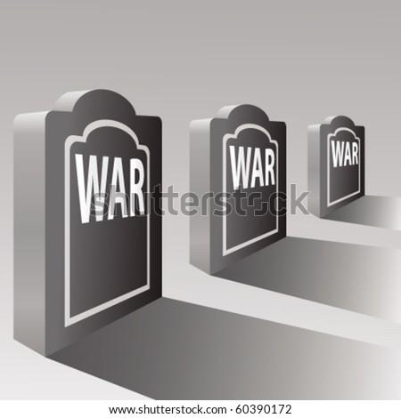 concept of war - stock vector