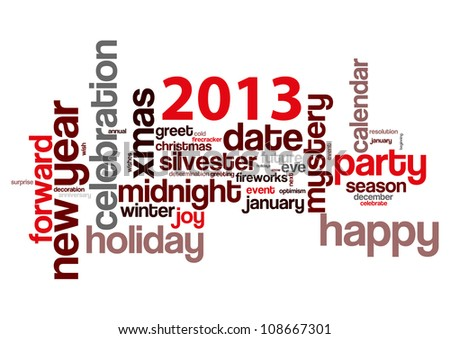 Concept of 2013 year theme - stock vector