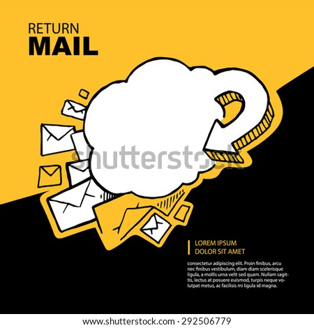 Concept picture with return of big letters. - stock vector
