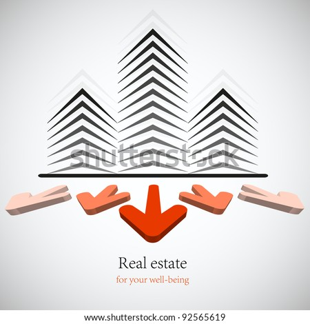 Concept real estate for your business. Vector background. Best choice. Eps 10