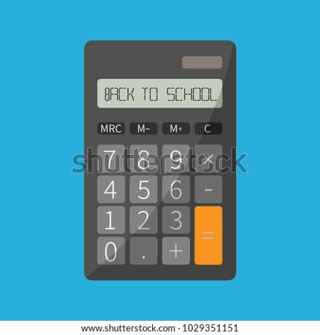 Concept Vector Electronic Calculator Education Math Stock Vector ...