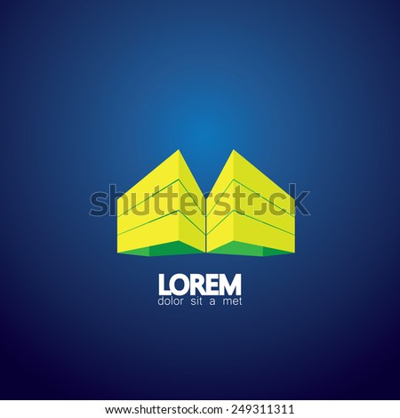 concept vector icon office buildings or residential apartments. This also represents city downtown buildings, highrise structures, commercial constructions, real estate projects, architecture - stock vector