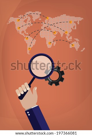 Concept, vector illustration Business Network - stock vector