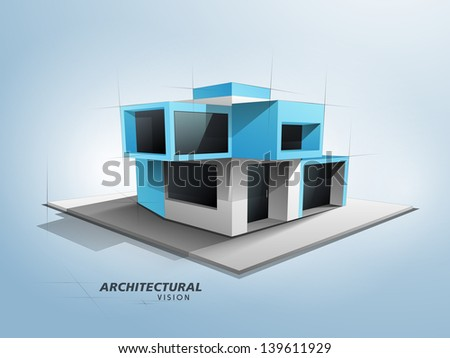 Conceptional architectural designing concept. - stock vector