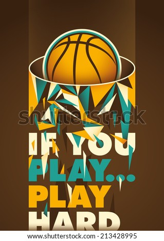 Conceptual basketball poster. Vector illustration. - stock vector