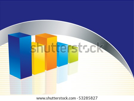 Conceptual business earnings chart in editable vector format - stock vector