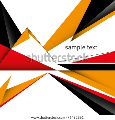 Conceptual designed layout with abstraction. Vector illustration. - stock vector