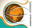 Conceptual designed worldwide basketball banner. Vector illustration. - stock vector
