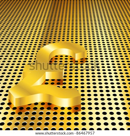 Conceptual gold pound background (EPS10 - Gradient, Transparency, Mesh) - stock vector