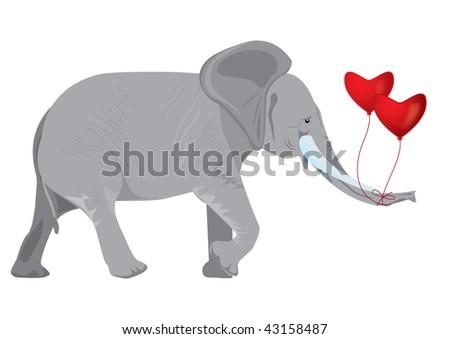 Elephant balloon stock photos elephant balloon stock for Elephant heart trunk