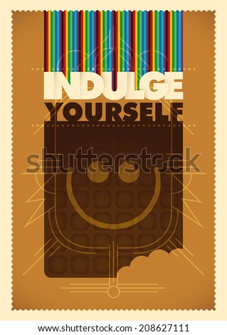 Conceptual illustration with chocolate. Vector illustration. - stock vector
