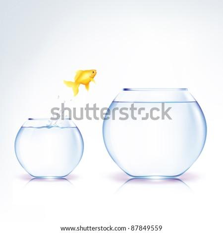 Conceptual Leap of faith (EPS10) - stock vector