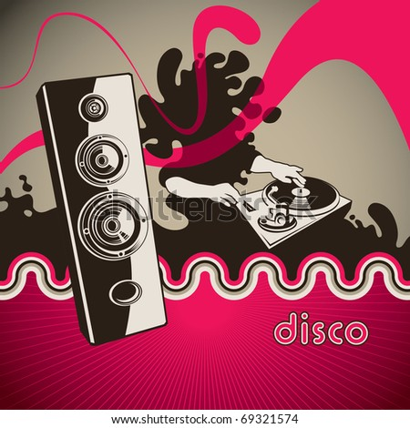 Conceptual party banner with abstraction. Vector illustration. - stock vector