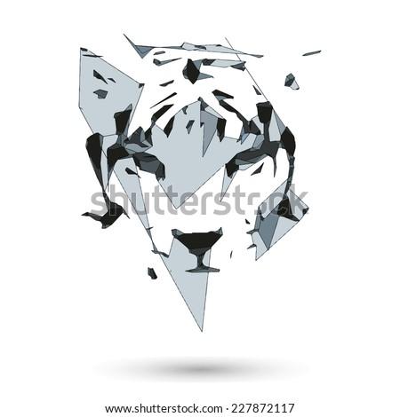 Conceptual Polygonal Tiger Abstract Vector Illustration