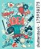 Conceptual representation of an idea or inspiration - stock vector