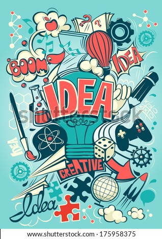 Conceptual representation of an idea or inspiration - stock vector