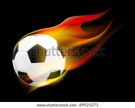 Conceptual Soccer ball with Flames (EPS10) - stock vector