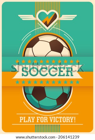 Conceptual soccer poster design. Vector illustration. - stock vector