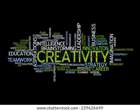 Conceptual text word cloud metaphor for creative, team, teamwork, management - stock vector