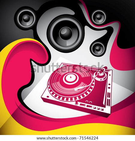 Conceptual urban party background with abstraction. Vector illustration. - stock vector
